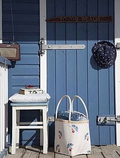 Blue and white cottage door Cottage Door, White Cottage, Coastal Cottage, Coastal Style, Coastal Living, Cottage Style, Seaside Style, Seaside Decor, Cottages By The Sea