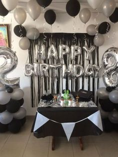 Beautiful birthday decorations at home. DM for booking . Beautiful birthday decorations at home. DM for booking . 21st Birthday Cakes, Birthday For Him, 40th Birthday Parties, 21st Cake, Birthday Gifts, Diy Birthday, 21 Birthday Balloons, 25th Birthday Ideas For Him, Birthday Party Ideas