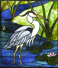 "Képtalálat a következőre: ""stained glass herons"" Stained Glass Patterns Free, Stained Glass Quilt, Stained Glass Birds, Stained Glass Designs, Stained Glass Panels, Stained Glass Projects, Mosaic Art, Mosaic Glass, Stencils"
