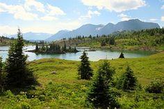 Montañas De Rockie, Lago, Isla, Canadá