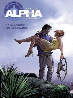 Chris Lamquet has taken over the illustrations for the hit Alpha series from Youri Jigounov.  Jigounov is continuing with the text only as he's taken over the cult XIII series from Vance.  This is the beautiful cover of Alpha #13, yet unreleased.