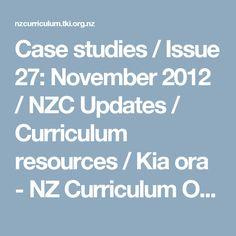 Case studies / Issue 27: November 2012 / NZC Updates / Curriculum resources / Kia ora - NZ Curriculum Online Kia Ora, Effective Teaching, Oras, Case Study, Curriculum, November, Language, Classroom, Student