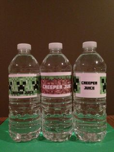 Minecraft Creeper Label Printable PDF  #minecraft