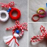 Wrapped rings and bead ornaments Activities For Kids, Crafts For Kids, Arts And Crafts, Food Humor, Funny Food, Baba Marta, Yarn Crafts, Diy Crafts, Kids Christmas