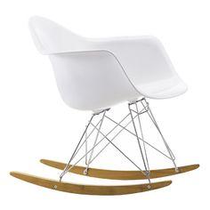 Eames RAR keinutuoli, valkoinen