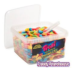 Just found Trolli Brite Crawlers Sour Gummy Worms: 63.5-Ounce Tub @CandyWarehouse, Thanks for the #CandyAssist!