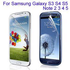 50 개 클리어 광택 전화 화면 보호기 필름 samsung galaxy s3 s4 미니 S5 주 2 3 4 5 에이스 4 가드 보호 필름