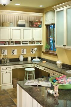 Alternate option: Attach an under shelf basket to your cabinet or shelf to utilize vertical space while keeping countertops open.