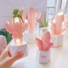 New creative Nordic cactus night light room decorations Material: synthetic resin,<br /><br />Style: /><br />Size:<br /><br /><br />Large : /><br />Small: /><br /><br />Large : /><br />Small: - New creative Nordic cactus night light room decorations Pastel Room Decor, Cute Room Decor, Aesthetic Room Decor, Pink Aesthetic, Cactus Lamp, Cactus Plants, Cactus Light, Indoor Cactus, Succulent Planters