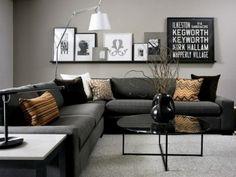 Sala gris oscuro