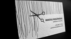 Letterpress Business Card for Hair Stylist by ElegantePress, via Flickr