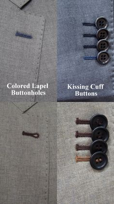 Adding some thread color to suit lapels and sleeves