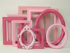 Picture Frames Set Shabby Chic Frames Pink Gallery Wall For Home Decor