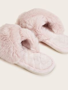 Faux Fur Quilted Open Toe Slippers #Sponsored , #affiliate, #Quilted#Fur#Faux Ladies Slippers, Womens Slippers, Open Toe, Classic Style, Faux Fur, Plaid, Tags, Pink, Clothes