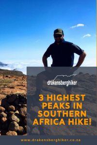 The 3 highest Peaks In Southern Africa Hike Report - Drakensberg Hiker South Africa, Southern, Hiking, Walks, Trekking, Hill Walking