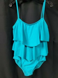f950936c92861 Maxine of Hollywood Size 12 Blue 1 Pc Tiered Bathing Suit Swim Suit  #MaxineofHollywood #