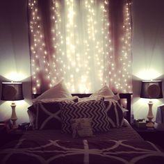 Fairy lights in the bedroom...