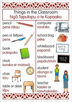 Classroom Bilingual Chart | Te Reo Maori Resources