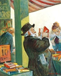 "Reading and Art: Cecil Crosley Bell (1906 in Seattle -died 1970) ""book stall"""