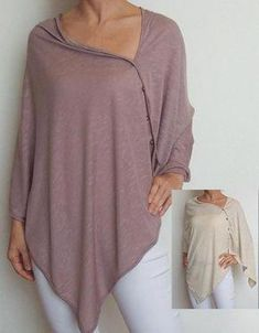 Love that it covers as well as being accessible for nursing. Could be used during and post pregnancy. Soft luxurious fabrics and organic would fit Frugi ethics. Nursing Poncho, Nursing Tops, Nursing Dress, Maternity Nursing, Maternity Wear, Maternity Dresses, Maternity Fashion, Nursing Covers, Diy Nursing Clothes
