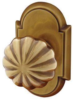 Emtek C820MN Melon Designer Brass Privacy Door Knobset with the CF Mechanism