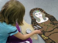 Ancient Egypt DIY sarcophagus decorating art project for 2nd grade