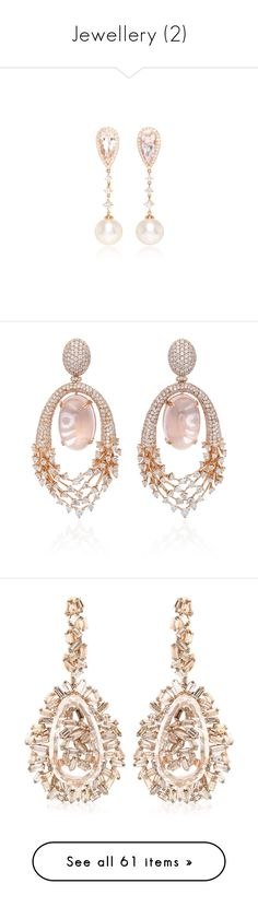 """""""Jewellery (2)"""" by asia-12 ❤ liked on Polyvore featuring jewelry, earrings, cultured pearl earrings, teardrop earrings, 18 karat gold earrings, earring jewelry, teardrop diamond earrings, accessories, pink and diamond fine jewelry"""