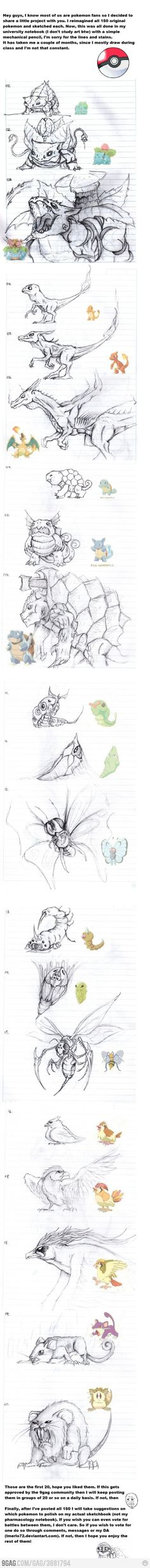 Pokemon Reimagined. Not really photography, but still amazing