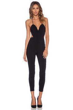 74e57aeab810 Lovers + Friends Jhene Aiko for Lovers and Friends Let s Be Real Jumpsuit  in Black
