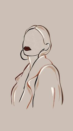 Grafic Art, Abstract Face Art, Outline Art, Art Drawings Sketches, Pretty Drawings, Minimalist Art, Aesthetic Art, Aesthetic Drawing, Beige Aesthetic