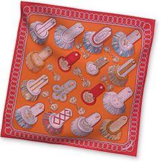 Epaulettes - Orange Vintage silk twill scarf, hand rolled, x Hermes Orange, Vintage Fashion, Vintage Style, Silk Scarves, Scarf Styles, Women's Earrings, Coin Purse, Card Holder, My Style