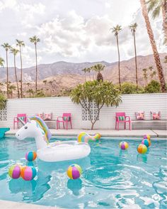 Pretty in Pink pool party in Palm Springs