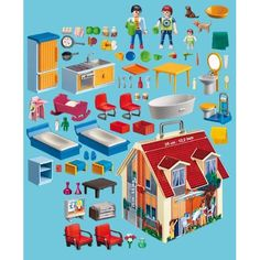 Playmobil on pinterest france camping and laundry rooms for Maison moderne playmobil carrefour