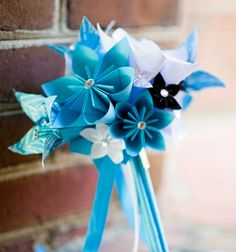 Paper Lilies Bridesmaid Bouquet 7 inch 11 by DanasPaperFlowers, $55.00