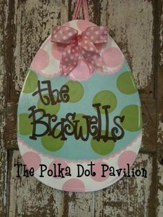 Polka Dot Pavilion in Alabama.  I love their door hangers!