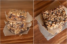 granola bars: delish. better than anything I've gotten from a box. be sure to follow the cooling instructions - it makes a big difference.