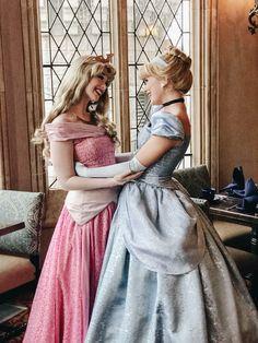 Princess Aurora, Cinderella, Walt Disney World Face Characters, Sleeping Beauty