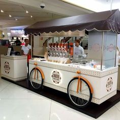 Ideas For Food Truck Remolque Food Stall Design, Food Cart Design, Food Truck Design, Kiosk Design, Cafe Design, Mobile Food Cart, Bike Food, Food Kiosk, Ice Cream Cart
