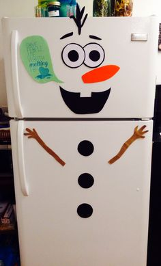Details About Frozen Olaf Fridge Decal Lifesize Snowman