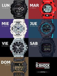 Casio Women's Daily Alarm Digital Watch – Fine Jewelry & Collectibles G Shock Watches Mens, Fancy Watches, Stylish Watches, Casio G Shock, Sport Watches, Luxury Watches, Watches For Men, Unique Watches, Beautiful Watches
