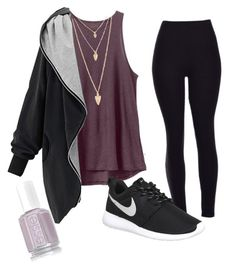 """""""Chill day"""" by jennisa-penner on Polyvore featuring RVCA, NIKE, Forever 21, women's clothing, women, female, woman, misses and juniors"""