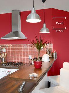Acentúa las paredes de tu lugar favorito con un tono rojizo como Claret. ¡Lucirá increíble! #BienHecho