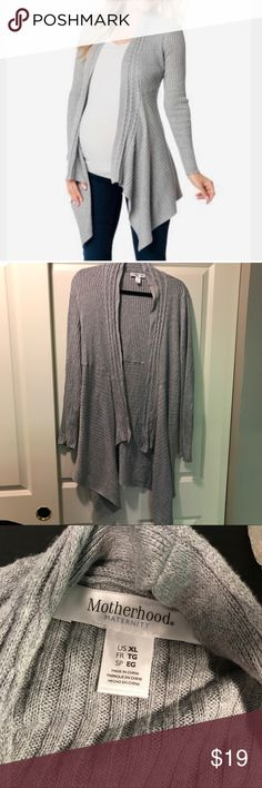 💕Motherhood Maternity cable knit open cardigan No flaws. Only worn a couple times. Excellent cardigan! 😉💙🌸Pet & Smoke Free home. Motherhood Maternity Other