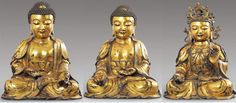 The Buddhas of the Three Times (past, present, future) -Dipamkara Buddha, Sakyamuni Buddha, and Maitreya Buddha