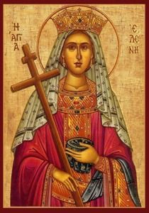 Helen, mother of Constantine the Great. Religious Images, Religious Icons, Religious Art, Byzantine Icons, Byzantine Art, Videos Catolicos, Peter Paul, Santa Helena, Greek Icons