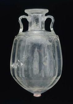 Two handled amphora, cut from rock crystal.    Early Roman Imperial, ca. 50 A.D.    Source: Boston Museum of Fine Arts
