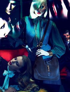 guccicampaign6 Gucci Fall 2011 Campaign | Abbey Lee Kershaw, Joan Smalls, Emily Baker & Sigrid Agren by Mert & Marcus