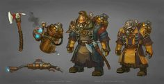 One more of the older works. These are a special clean-up team for another Imperial Secret Laboratory (Laboratory 731). The yellow guys are your regular cleaners, the darker one is their Boss. I li...