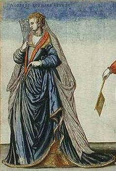 Silk Veil ,Venetian Noble Woman 1581 [from Habitus Varium Orbis Gentium] Jean-Jaques Boissard Los Angeles, Los Angeles County Museum of Art