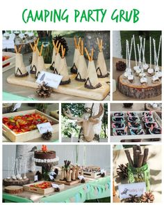 cute food and snack ideas for a joint boy and girl camping party!